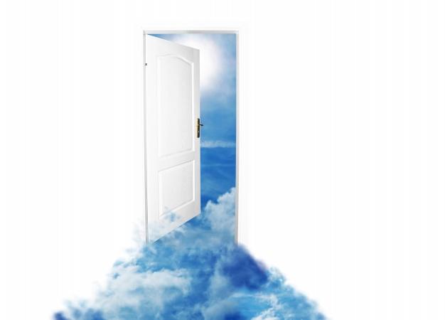 ドアの向こう!